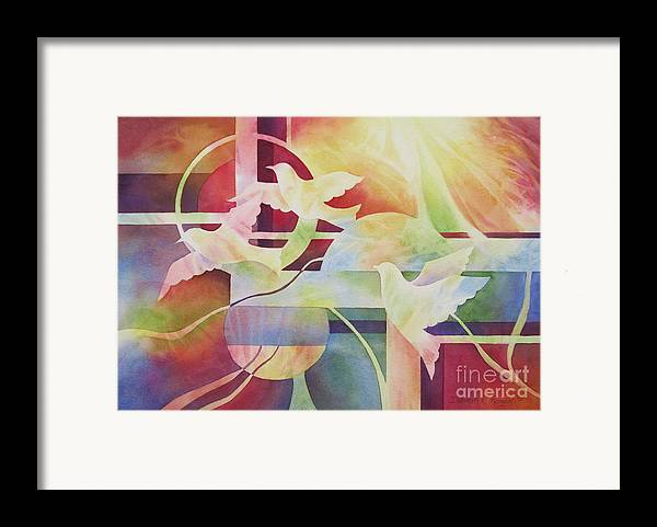 World Peace Framed Print featuring the painting World Peace 2 by Deborah Ronglien