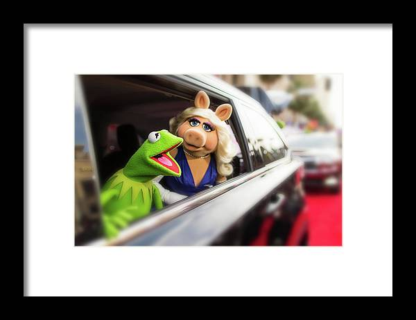 Horizontal Framed Print featuring the photograph World Premiere Of Disneys Muppets Most by Christopher Polk