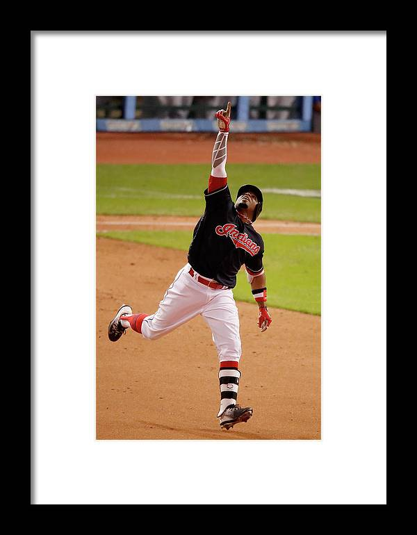 People Framed Print featuring the photograph World Series - Chicago Cubs V Cleveland by Gregory Shamus