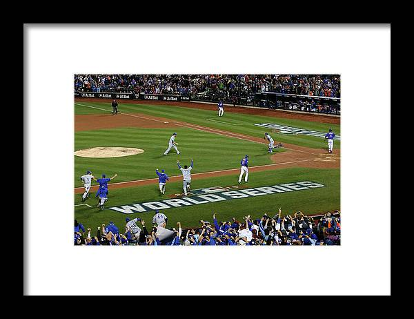 American League Baseball Framed Print featuring the photograph World Series - Kansas City Royals V New by Doug Pensinger