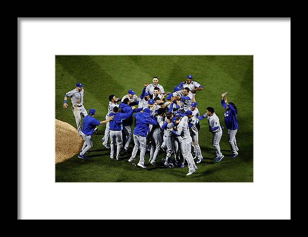 American League Baseball Framed Print featuring the photograph World Series - Kansas City Royals V New by Tim Bradbury