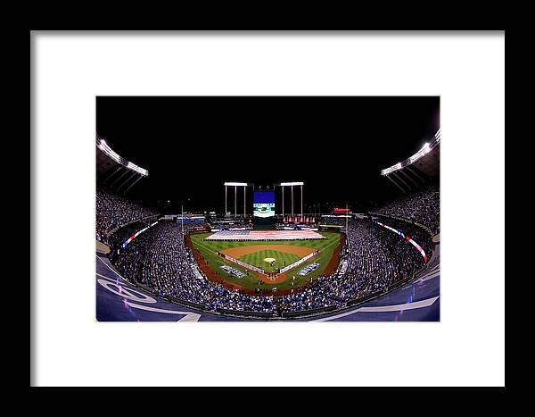 People Framed Print featuring the photograph World Series - San Francisco Giants V by Alex Trautwig