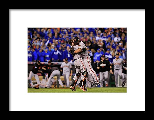 People Framed Print featuring the photograph World Series - San Francisco Giants V by Jamie Squire
