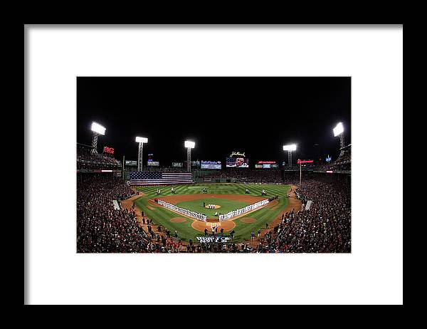 American League Baseball Framed Print featuring the photograph World Series - St Louis Cardinals V by Alex Trautwig