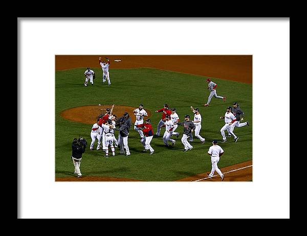 Playoffs Framed Print featuring the photograph World Series - St Louis Cardinals V by Jamie Squire