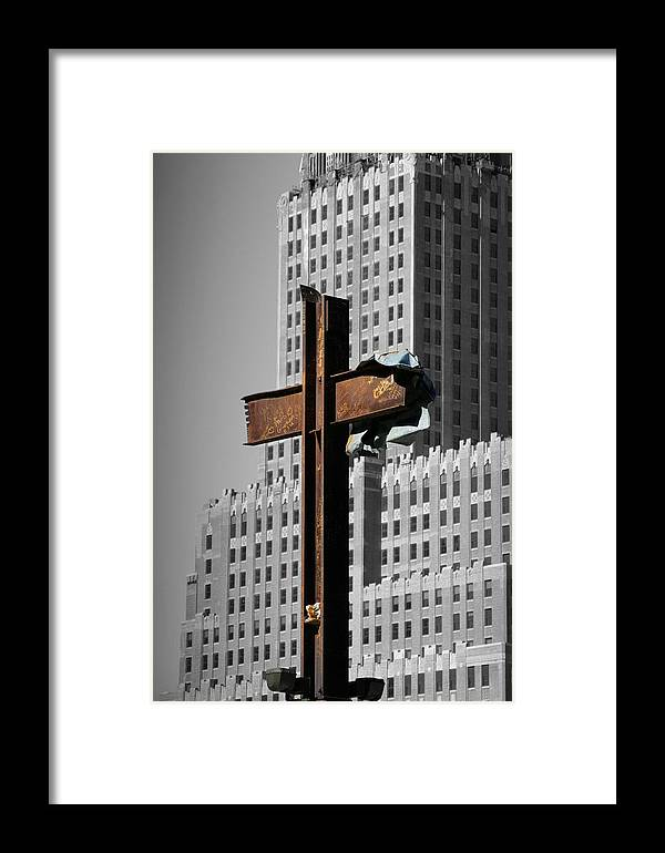 World Framed Print featuring the photograph World Trade Center Cross New York by Mathew Lodge