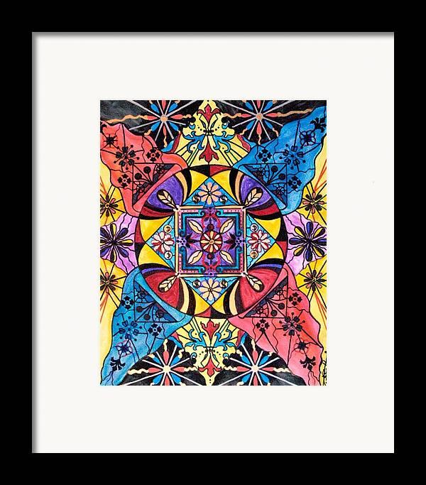 Worldly Abundance Framed Print featuring the painting Worldly Abundance by Teal Eye Print Store
