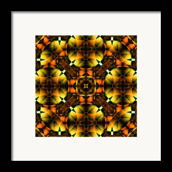 Square Framed Print featuring the digital art Worlds Collide 21 by Mike McGlothlen