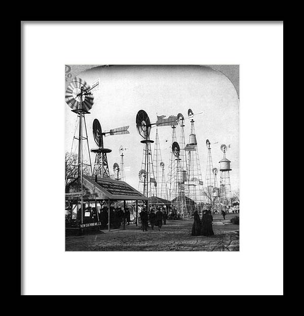 1905 Framed Print featuring the painting World's Fair Windmills by Granger
