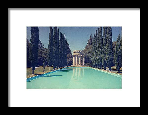 Pulgas Water Temple Framed Print featuring the photograph Worship by Laurie Search
