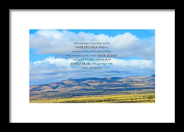 God Framed Print featuring the photograph Worthy Are You Jesus by David Norman