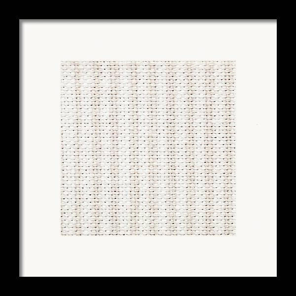 Art Framed Print featuring the photograph Woven Fabric by Tom Gowanlock