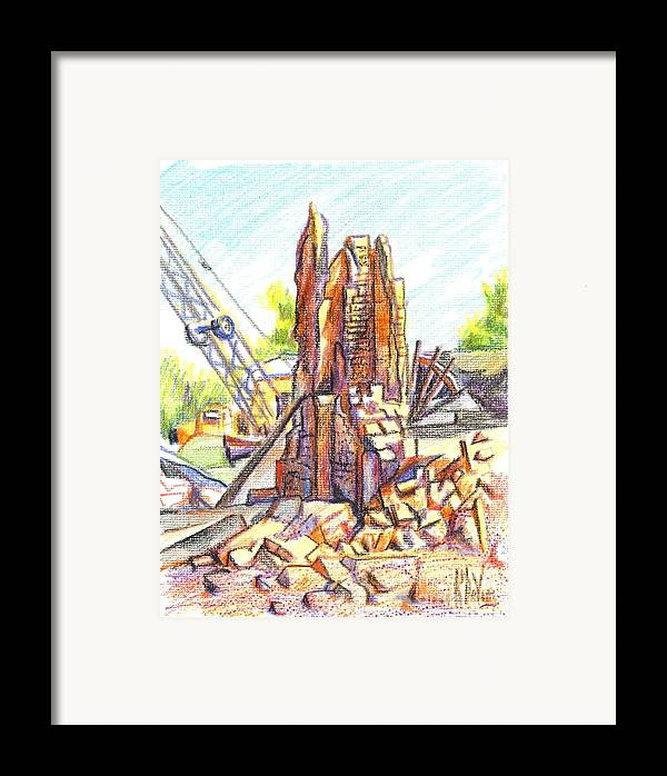 Wrecking Ball Framed Print featuring the painting Wrecking Ball by Kip DeVore