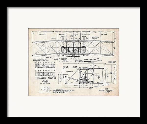 Wright Flyer Art Drawing by Stephen Chambers