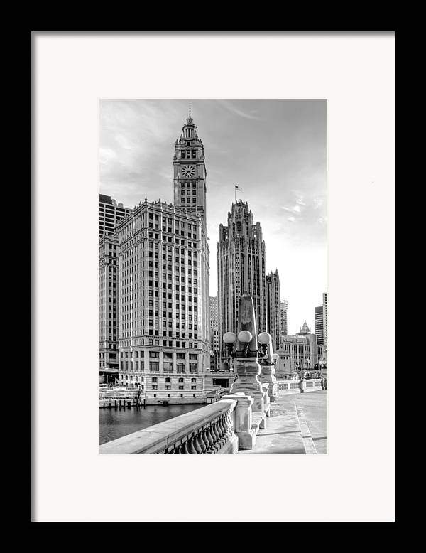 Architecture Framed Print featuring the photograph Wrigley And Tribune by Scott Norris