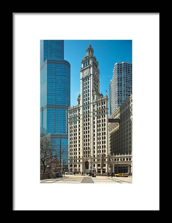 Kevin Eatinger Framed Print featuring the photograph Wrigley Framed by Kevin Eatinger