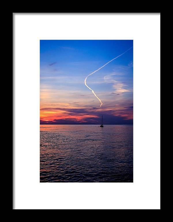 Water Framed Print featuring the photograph Writing In The Sky by Jim Koniar