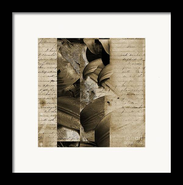 Framed Print featuring the mixed media Written II by Yanni Theodorou