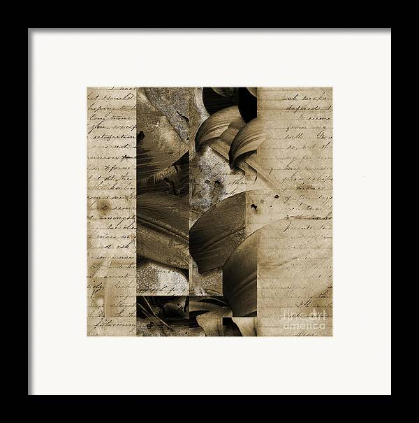 Framed Print featuring the mixed media Written IIi by Yanni Theodorou