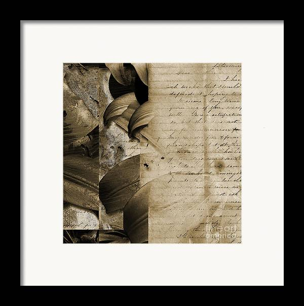 Framed Print featuring the mixed media Written by Yanni Theodorou