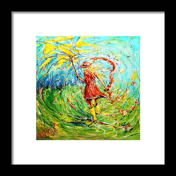 Abstract Framed Print featuring the painting Wuthering Heights by Mathias