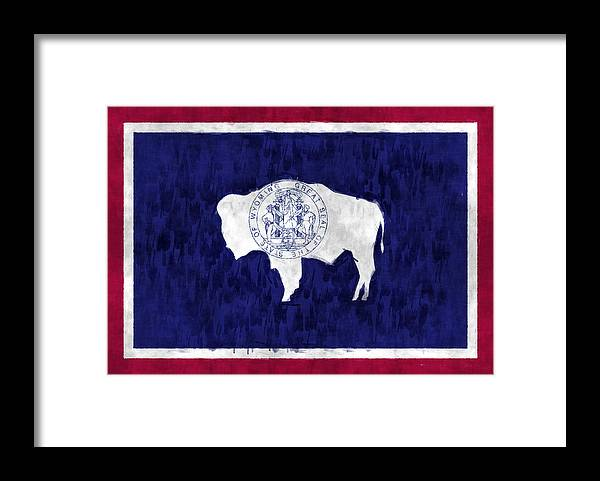Wyoming Flag Framed Print By World Art Prints And Designs