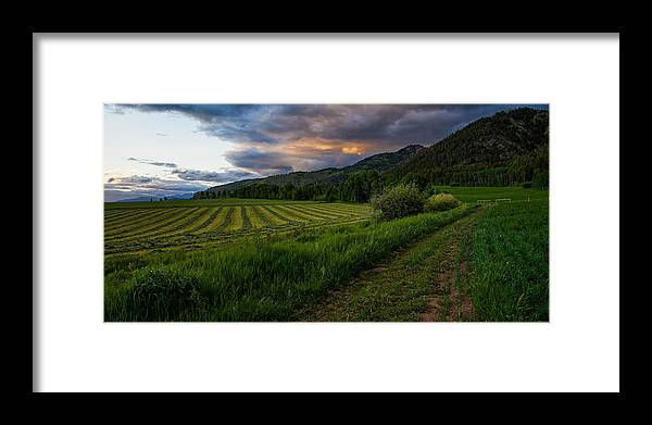 Star Valley Framed Print featuring the photograph Wyoming Pastures by Chad Dutson