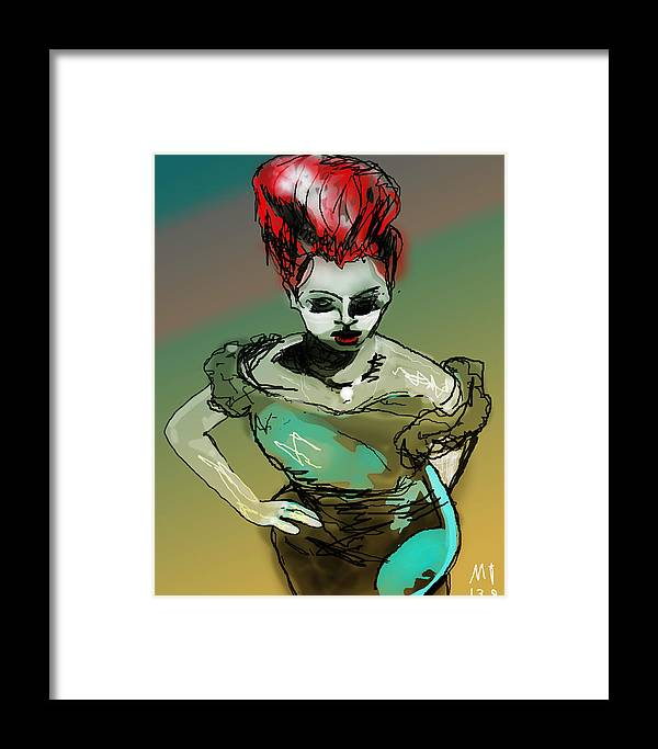 Girl Framed Print featuring the digital art Wyrd Girl by Michael Greene
