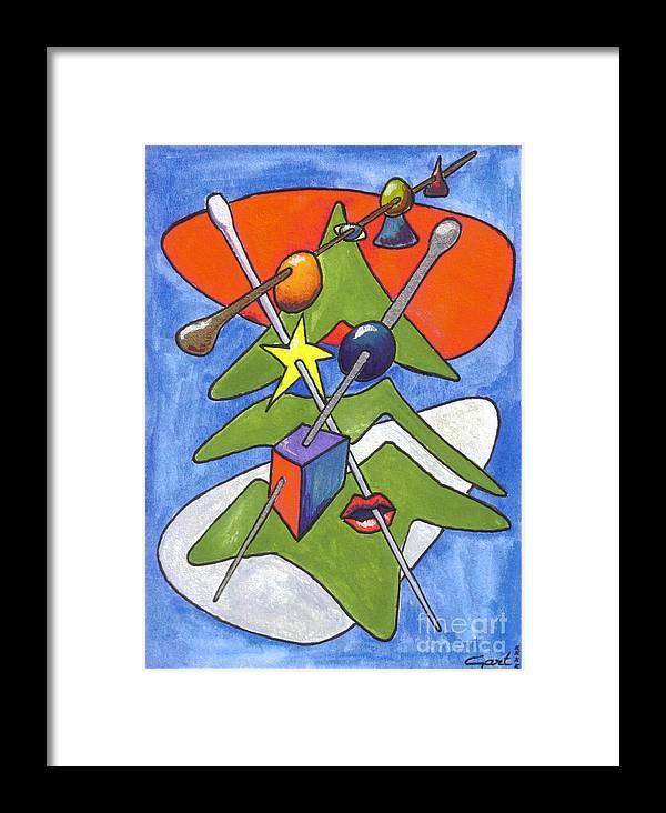 Gartart Framed Print featuring the painting Xmas Tree I by Gart Van Gennip