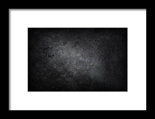 Material Framed Print featuring the photograph XXXL dark concrete by Sbayram