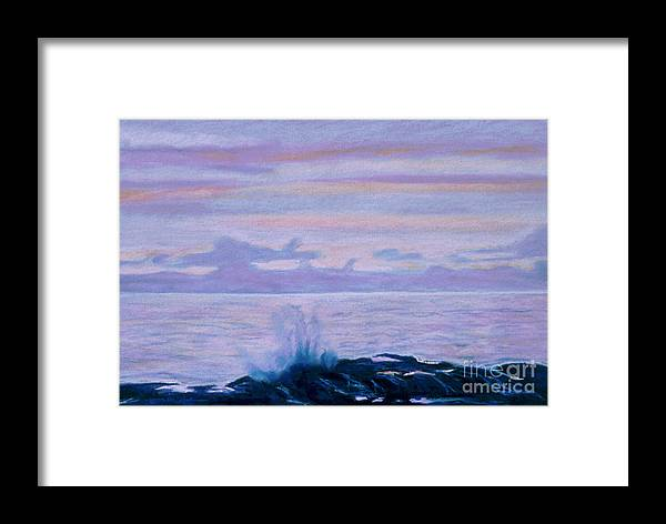 Seascape Framed Print featuring the painting Yachats by Jana R Johnson