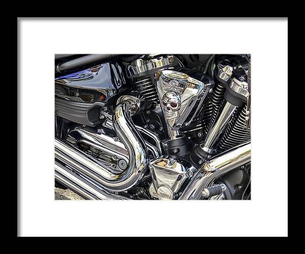 Yamaha Star Motorcycle Framed Print featuring the photograph Yamaha Star Engine by Robert Grant