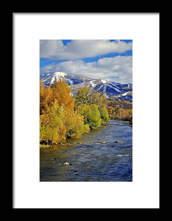 Steamboat Springs Framed Print featuring the photograph Yampa River Fall by Matt Helm