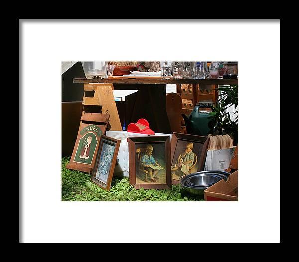 Yard Sale Framed Print featuring the photograph Yard Sale by David DeCenzo