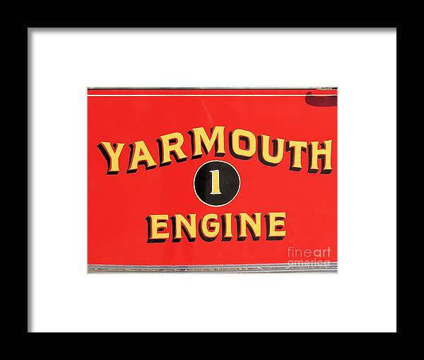 Fire Truck Framed Print featuring the photograph Yarmouth Engine 1 by Elizabeth Dow