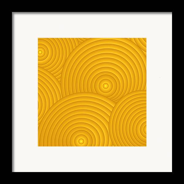 Frank Tschakert Framed Print featuring the painting Yellow Abstract by Frank Tschakert