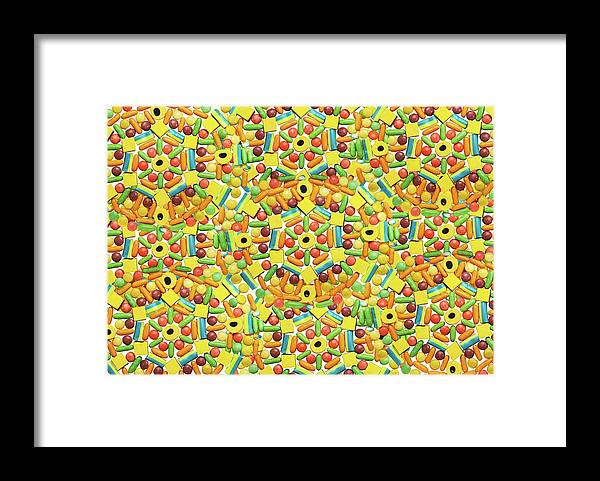 Temptation Framed Print featuring the photograph Yellow Abstract Pattern Made Out Of by Paper Boat Creative