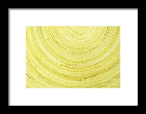Yellow Framed Print featuring the photograph Yellow Arcs by Liz Leyden