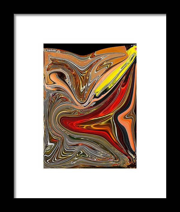 Framed Print featuring the digital art Yellow Invasion 2 by Bob Riggs