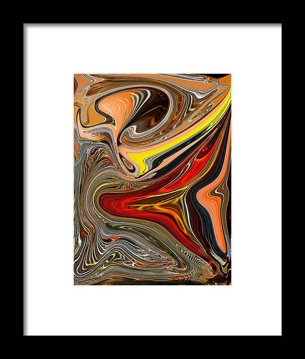 Framed Print featuring the digital art Yellow Invasion 3 by Bob Riggs