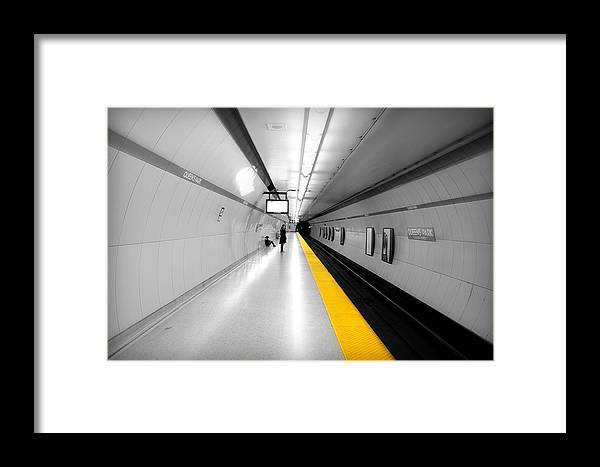 Bright Framed Print featuring the photograph Yellow Line by Valentino Visentini