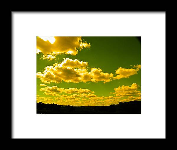 Yellow Framed Print featuring the photograph Yellow Skies by Nick Kirby