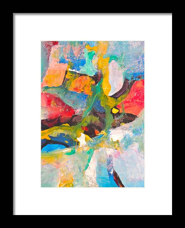 Contemporary Art Framed Print featuring the painting Yellow Spot by Jgyoungmd Aka John G Young MD
