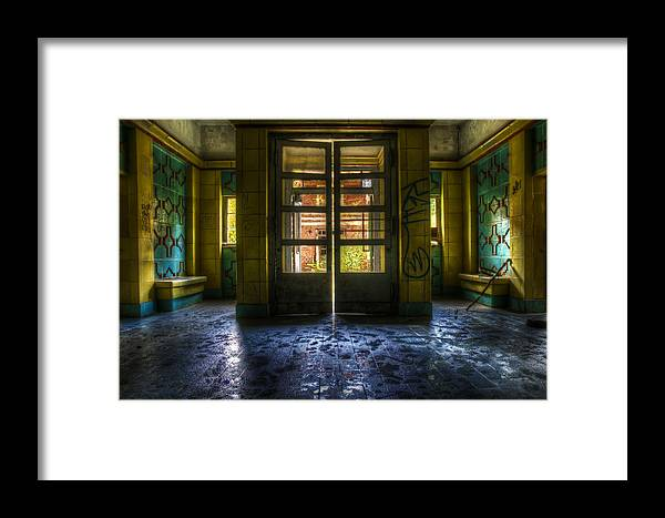 Berlin Framed Print featuring the digital art Yellow Way by Nathan Wright