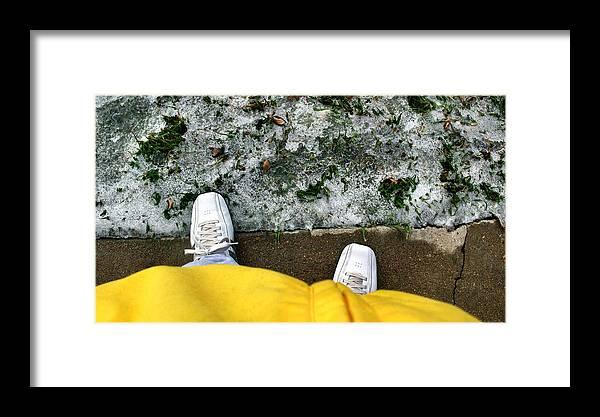 Shoe Framed Print featuring the photograph Yellowjacketcomp 2009 by Glenn Bautista