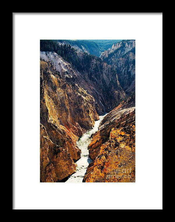Yellowstone Framed Print featuring the photograph Yellowstone River by Kathy McClure