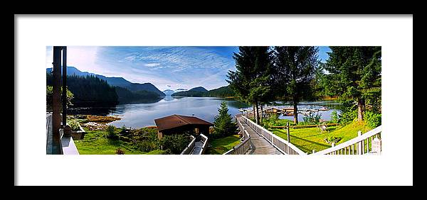 Framed Print featuring the photograph Yes Bay Lodge - The View by Jim Lucas