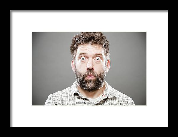 Plaid Shirt Framed Print featuring the photograph Yikes by AndyL