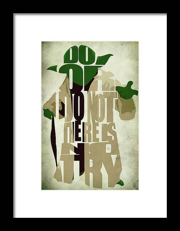 Yoda Framed Print featuring the digital art Yoda - Star Wars by Inspirowl Design