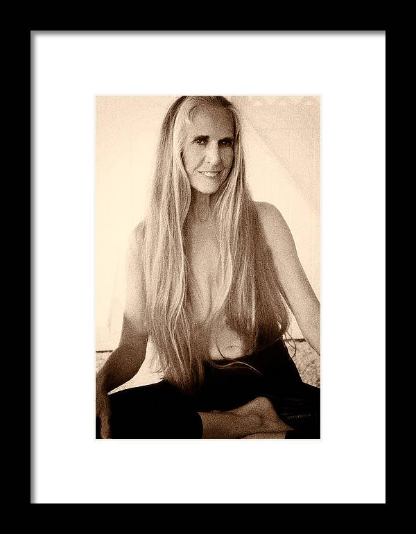 Beauty Framed Print featuring the photograph Yoga Pose II by Nancy Taylor